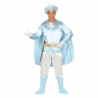 Droomprins carnavalspak licht blauw volwassenen