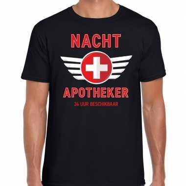 Drugs nacht apotheker uur beschikbaar carnaval verkleed shirt zwart h