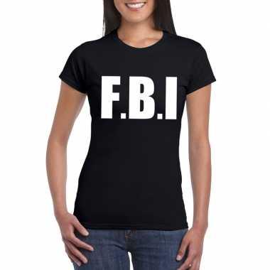 Fbi carnaval t-shirt zwart dames