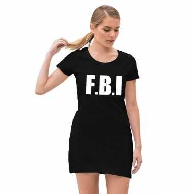 Fbi carnavalsjurkje zwart meiden