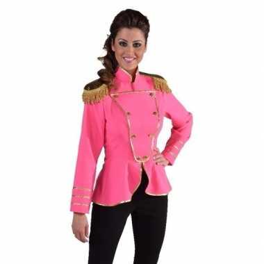 Fel roze carnavalspak jas dames