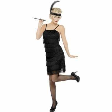 Flapper twenties carnavalspak zwart dames
