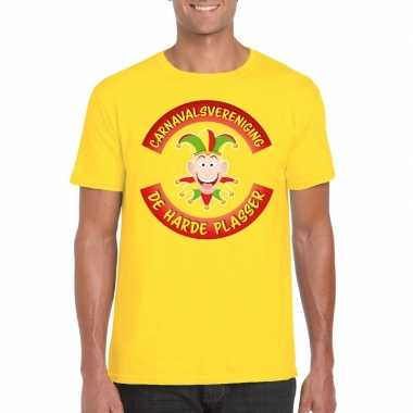 Fun t shirt limburgse carnavalsvereniging geel heren
