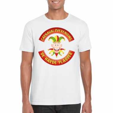 Fun t shirt limburgse carnavalsvereniging wit heren