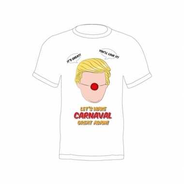 Fun trump verkleedshirt make carnaval great again volwassenen