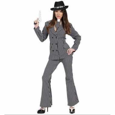 Gangster carnavalspak dames