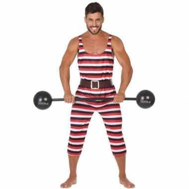 Gewichtheffer verkleed carnavalspak heren