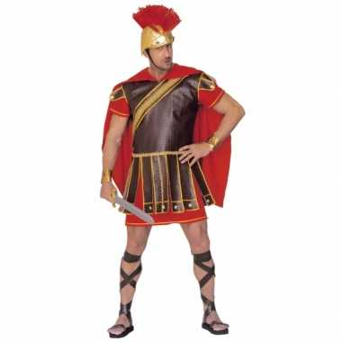 Gladiator carnavalspaks rood bruin heren