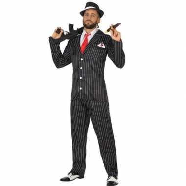 Goedkoop gangster carnavalspak heren