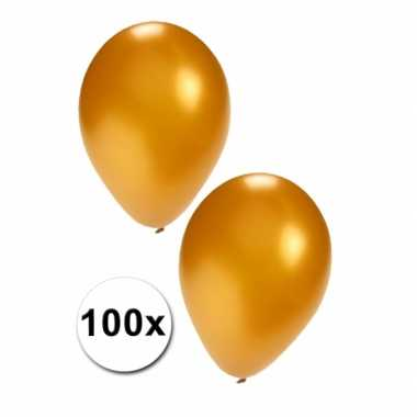 Gouden carnavals ballonnen