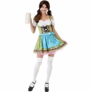 Groen bierfeest jurkje/dirndl carnavalspak dames