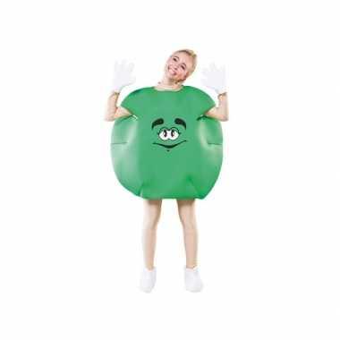 Groen snoep carnavalspak volwassenen