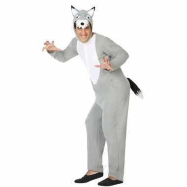 Grote boze wolf carnavalspak volwassenen