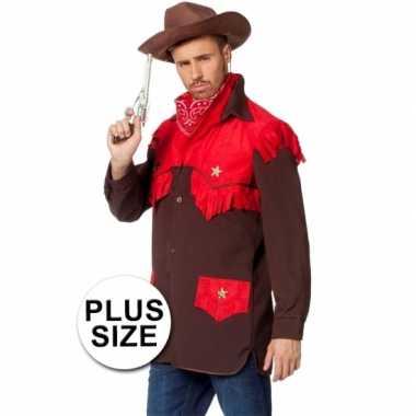 Grote maat cowboy carnavalspak heren