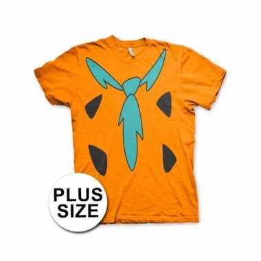 Grote maat fred flintstone shirt carnavalspak volwassenen