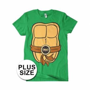 Grote maat fred ninja turtle shirt carnavalspak volwassenen