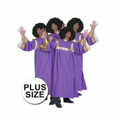 Grote maat gospel carnavalspak