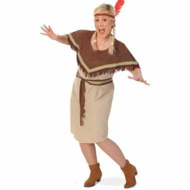 Grote maat indianen carnavalspak damen