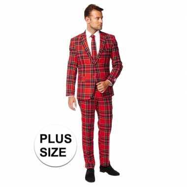 Grote maten heren verkleedcarnavalspak the lumberjack business suit