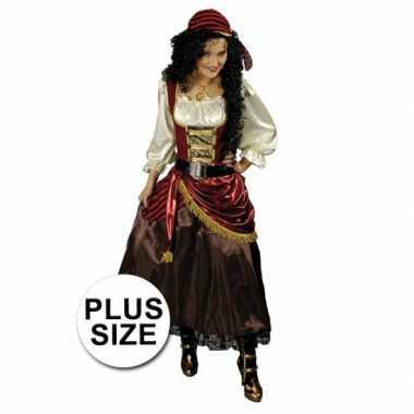 Grote maten piraten carnavalspak dames