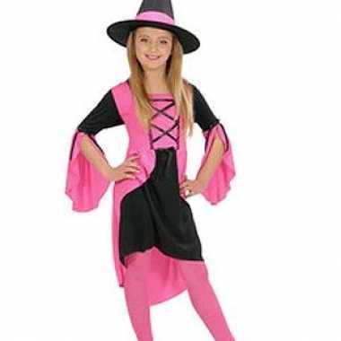 Heksen carnavalspak meisjes roze