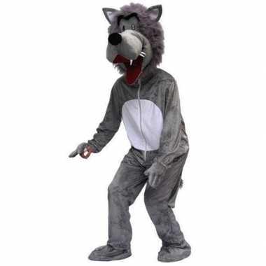 Heren carnavalspak wolf