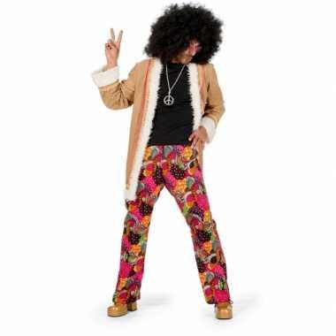 Hippie carnavalspak heren