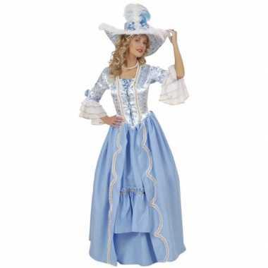 Hofdame carnavalspak blauw