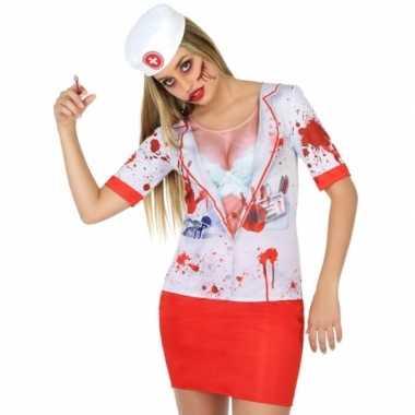 Horror zuster shirt verkleedcarnavalspak