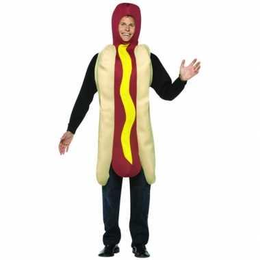 Hotdog carnavalspak volwassenen