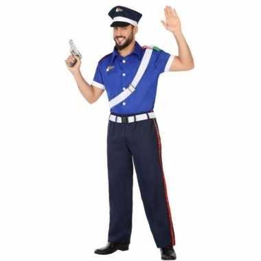 Italiaanse politie carnavalspak volwassenen
