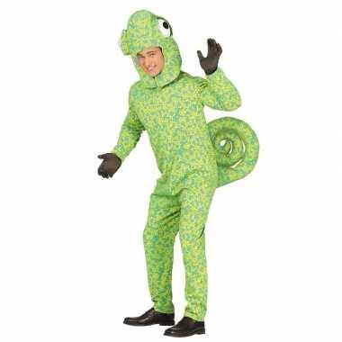 Kameleon carnavalspak volwassenen