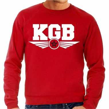 Kgb agent geheim agent carnavalspak trui sweater rood heren