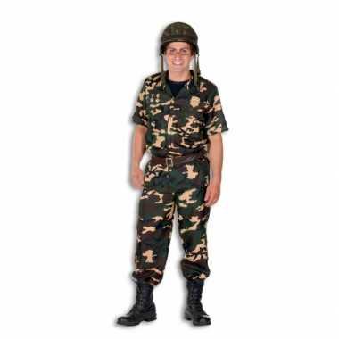 Leger soldaten carnavalspak heren