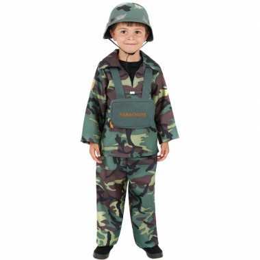Leger soldaten carnavalspak kind