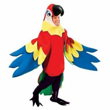 Luxe papegaaienpak carnavalspak