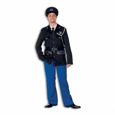 Luxe politie carnavalspak heren