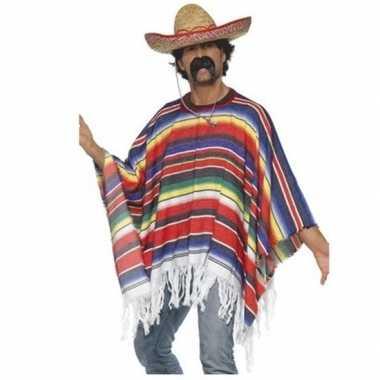Mexico verkleed carnavalspak poncho hoed