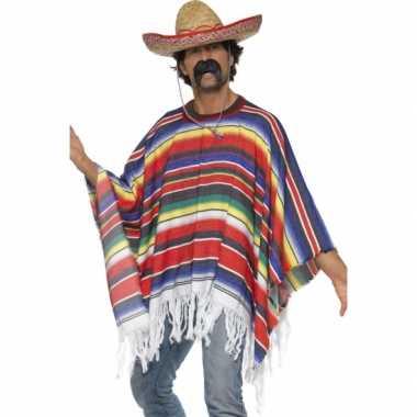Mexico verkleed carnavalspak poncho