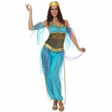 Nacht dames carnavalspak blauw