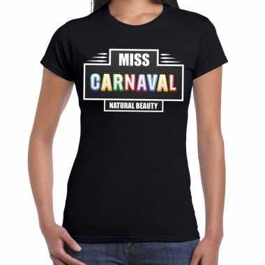 Natural beauty miss carnaval verkleed shirt zwart dames