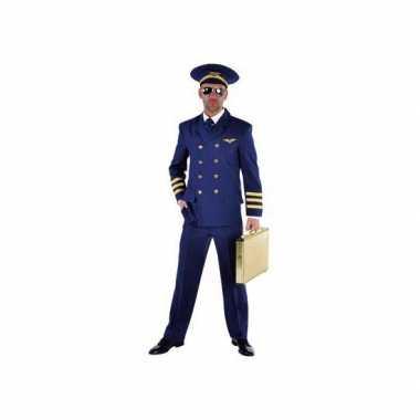 Piloot carnavalspak heren blauw