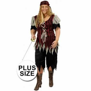 Piraten carnavalspak grote maat vrouwen