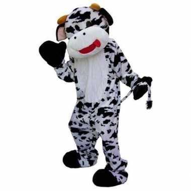 Pluche koeien carnavalspak zwart wit