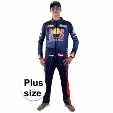 Plus size race verkleed carnavalspakl heren
