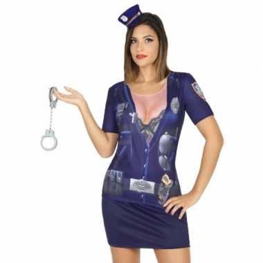 Politie shirt verkleedcarnavalspak dames
