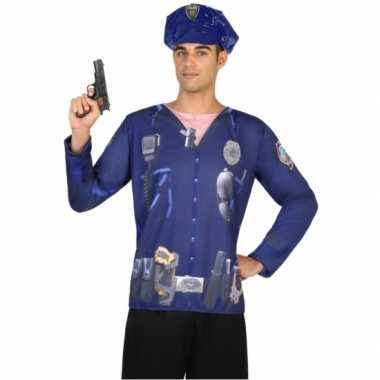 Politie shirt verkleedcarnavalspak