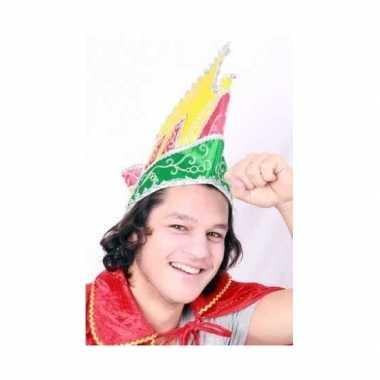 Prins carnaval muts gekleurd volwassenen