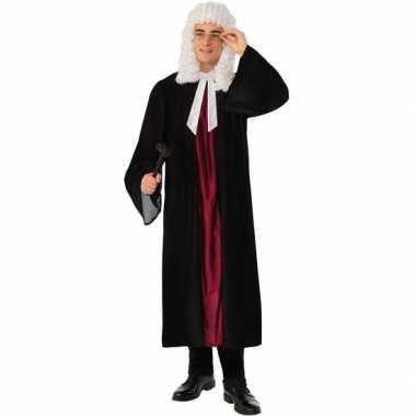 Rechters/advocaten carnavalspak toga/tabbaard zwart rood volwassenen