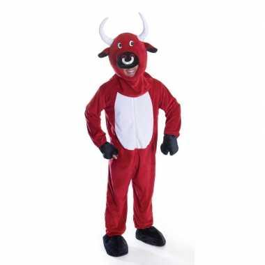 Red bull rode stieren koeien carnavalspak